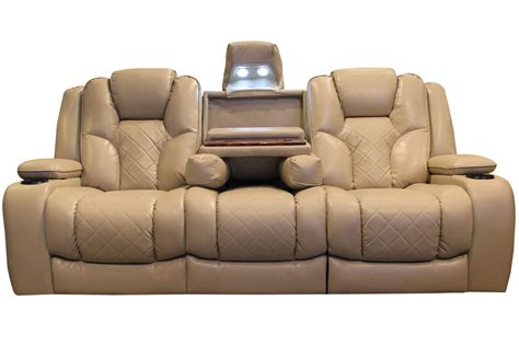 reclining sofa with drop console turismo power reclining sofa with drop table at