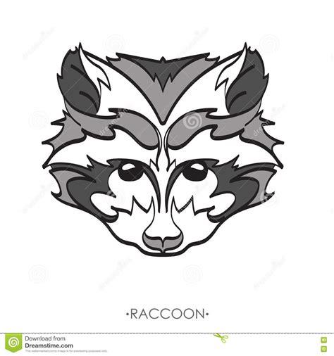 cartoon raccoon tattoo stylized raccoon vector illustration of raccoon sketch