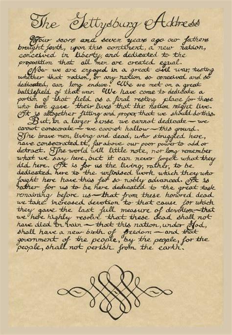 gettysburg address gettysburg address gettysburg address handwritten
