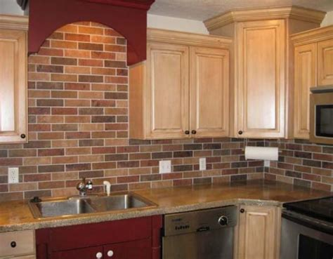 Faux Kitchen Backsplash Faux Brick Tile Backsplash Design Ideas Savary Homes