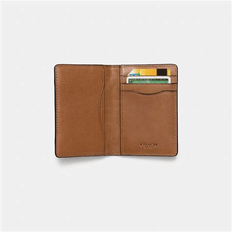Coach Patchwork Wallet - coach card wallet in patchwork sport calf leather in brown
