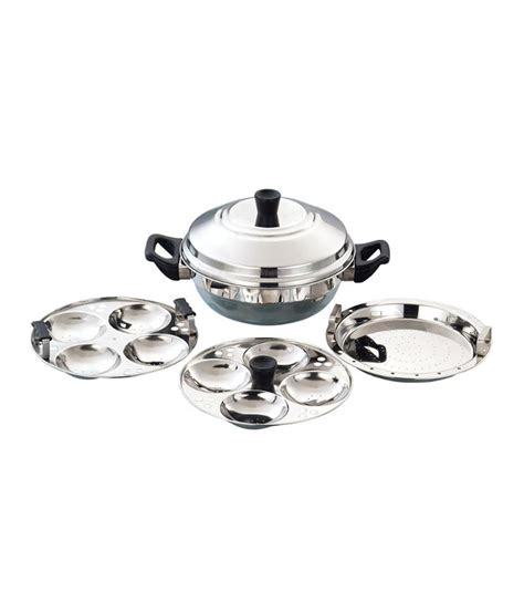 induction cooker kadai eurostyle 8 idly multi kadai s s idly cooker induction compatible buy at best price in