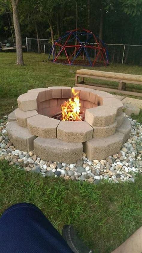 build a pit with landscape blocks build a pit from cement landscape blocks diy