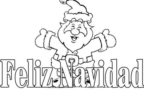 imagenes de navidad para colorear con frases imagen de feliz navidad con papa noel para dibujar y