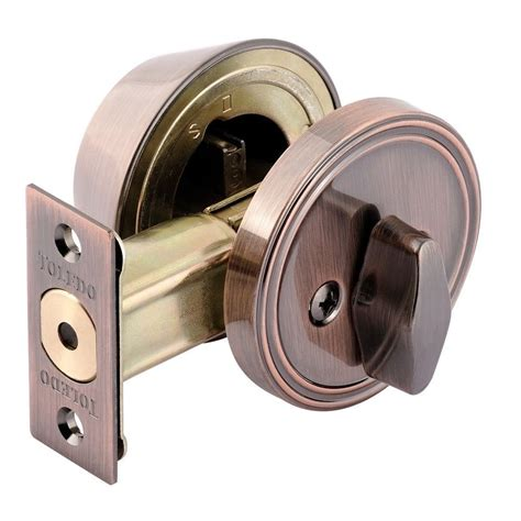 toledo locks single cylinder antique copper deadbolt