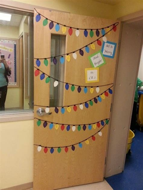 classroom holiday door decoration the lights