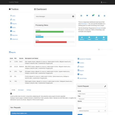 story bootstrap template 스마트플렉스 admin dashboard templates