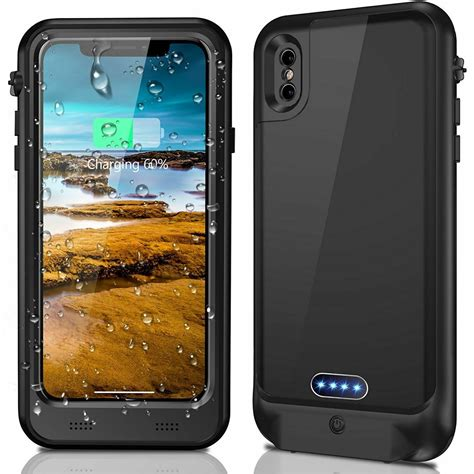 ip68 waterproof battery heavy duty charging cover for iphone 7 6s 8 plus x ebay