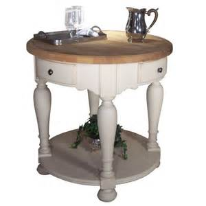 Round Kitchen Island by Kaco Signature Rsvp Butcher Block Round 36 Quot Cream Kitchen