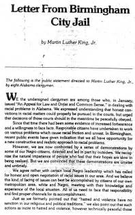 Response Letter From Birmingham Happy Birthday Martin Luther King Jr Learn Fly