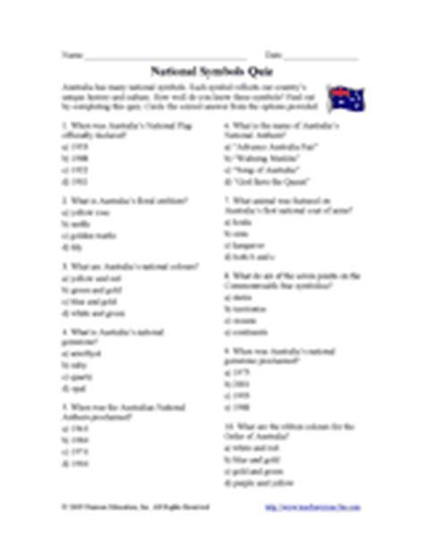 printable quiz about australia national symbols of australia quiz australian history