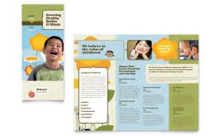 brochure templates for school project child development school tri fold brochure template design