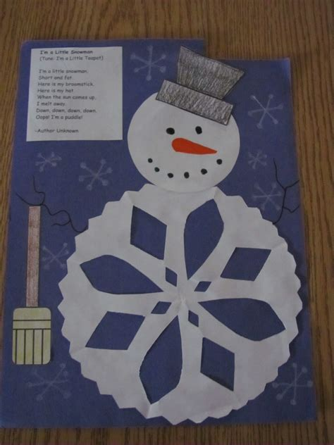 winter crafts for at school project maybe the 3rd graders write their