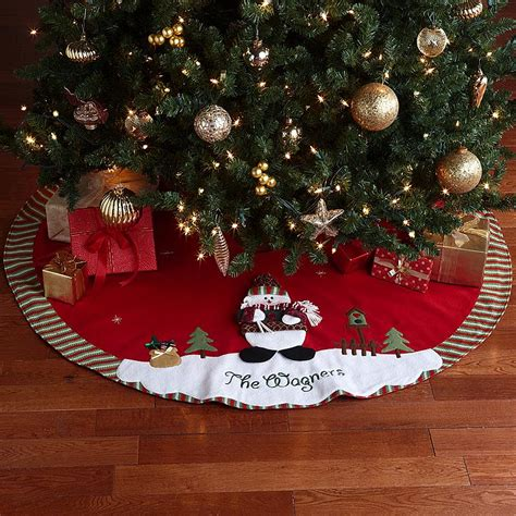 beautiful personalized tree skirts homesfeed