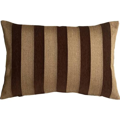 Throw Pillows Brown brackendale stripes brown rectangular throw pillow from