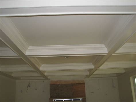 Vaulted Tray Ceiling Coffered Vaulted Tray And Moulded Ceilings