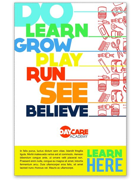 free templates for caign posters child care services poster