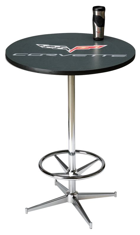 Bar Style Table by C6 Corvette Pub Style Table Chevymall