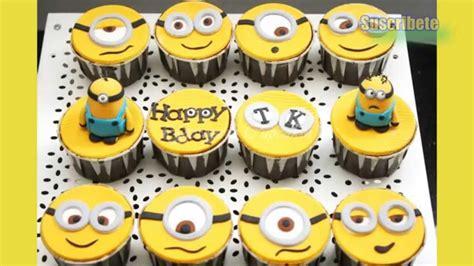 imagenes minions cupcakes ideas para decorar cupcakes de los minions youtube