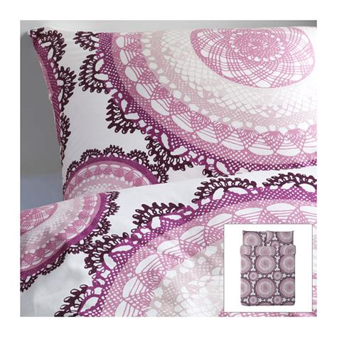 lyckoax duvet cover and pillowcase s white lilac lyckoax duvet cover and pillowcase s full queen double