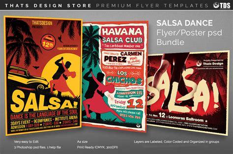 template flyer salsa salsa dance flyer templates psd design for photoshop