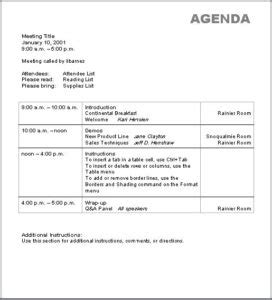 meeting agenda template doc 11 meeting agenda templates doc 10 best agenda templates