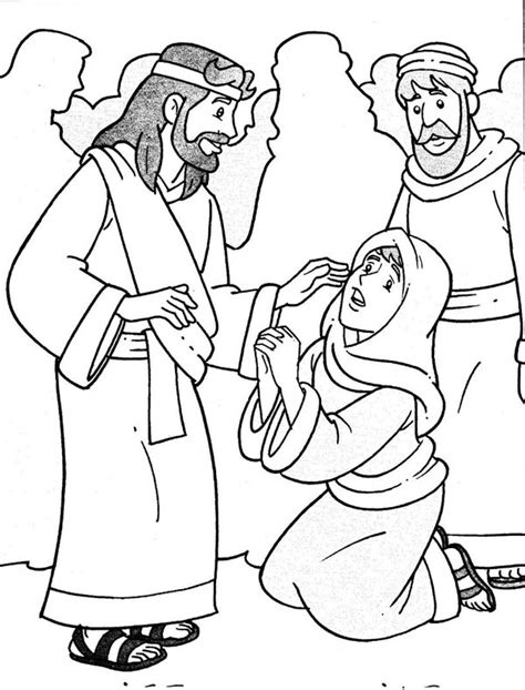 sunday school coloring pages jesus heals the sick jesus heals sick coloring page coloring pages for free