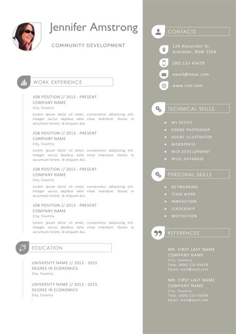 Resume Template For Pages by Resume Templates For Mac Also Apple Pages Ready