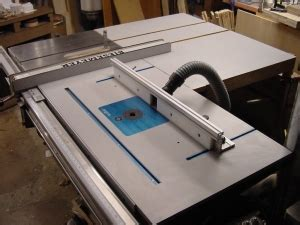 Homemade Router Mount In Table Saw Extension