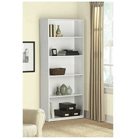 bookcases white wood cheap 5 shelf wood bookcase white bookshelf