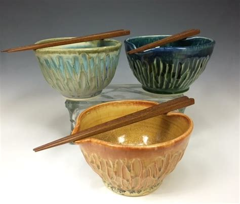 Handmade Pottery Bowls For Sale - handmade pottery chopstick bowls