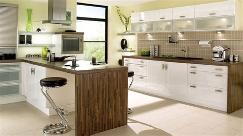 gloss white shaker kitchen high gloss kitchens with