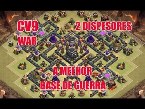layout cv9 war youtube clash of clans melhor layout de guerra cv9 best war