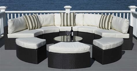 round patio couch round outdoor wicker sectional couch set contemporary