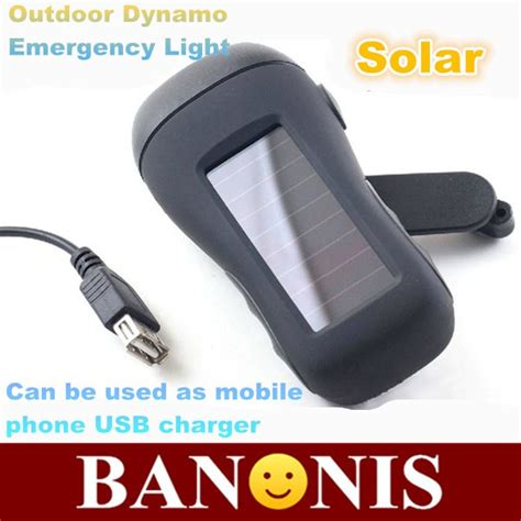 Solar Emergency Light With Mobile Charger Solar Flashlight Power Flashlight Outdoor