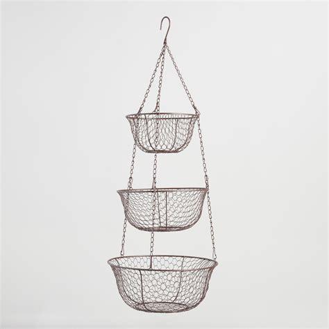 wire three tier hanging basket world market