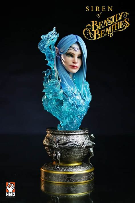 m o b cosmetic screen siren siren statue bust h m o collectibles