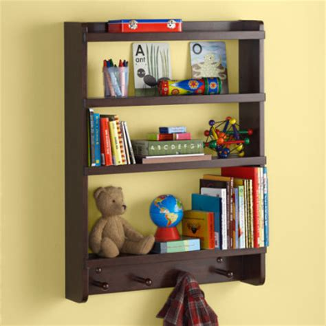 shelves and wall pegs room decor