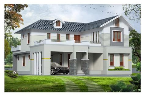western style exterior house design kerala at 1890 sq ft