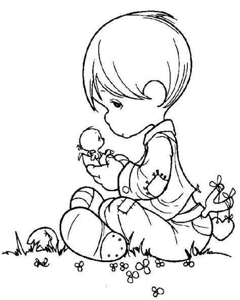 boy angel coloring page 77 best precious moments images on pinterest