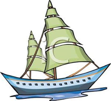 cartoon pleasure boat pleasure sailboat royalty free clipart picture