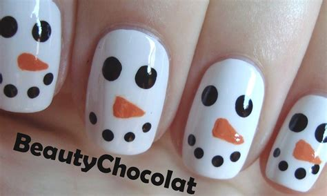 Easy Snowman Nail easy nails special day celebrations