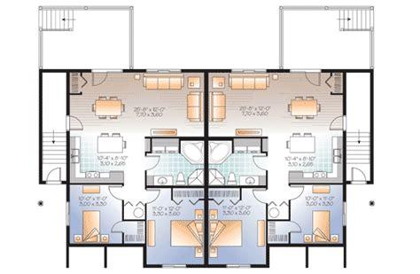 Fab 4 Plex House Plan 22346dr 1st Floor Master Suite 4 Plex House Plans Canada