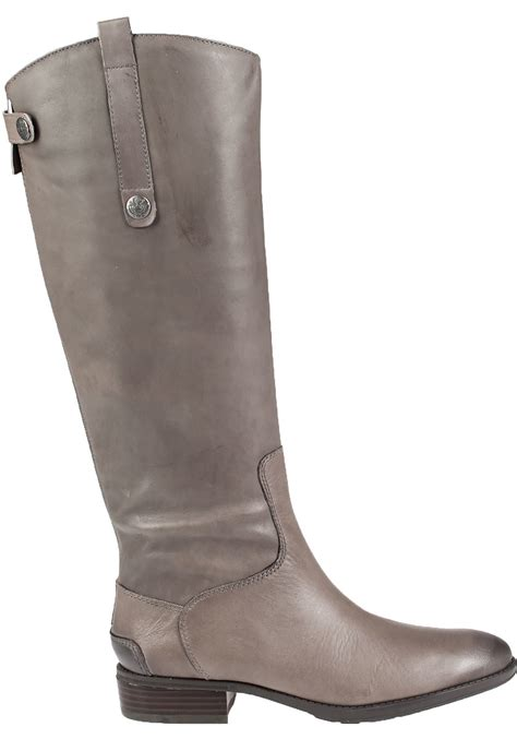grey leather boots sam edelman leather boots in gray grey lyst