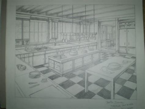 homework one point perspective room drawing homework two point perspective kitchen by twixz151 on