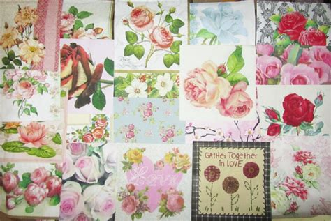 Decoupage With Paper Napkins - 20 decoupage paper napkins roses pink flowers mixed ebay