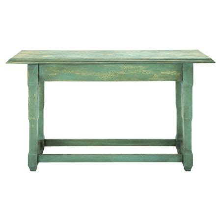 Green Console Table Distressed Wood Console Table In Green Home Spiration