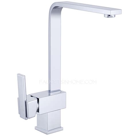 Oil Brushed Bronze Kitchen Faucet modern square shaped kitchen faucet single side handle