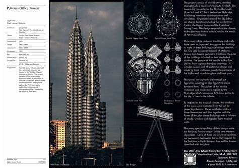 petronas office towers presentation panel with project
