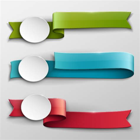 Vector Banner Colored Ribbon Design Free Vector In | vector banner colored ribbon design 02 welovesolo